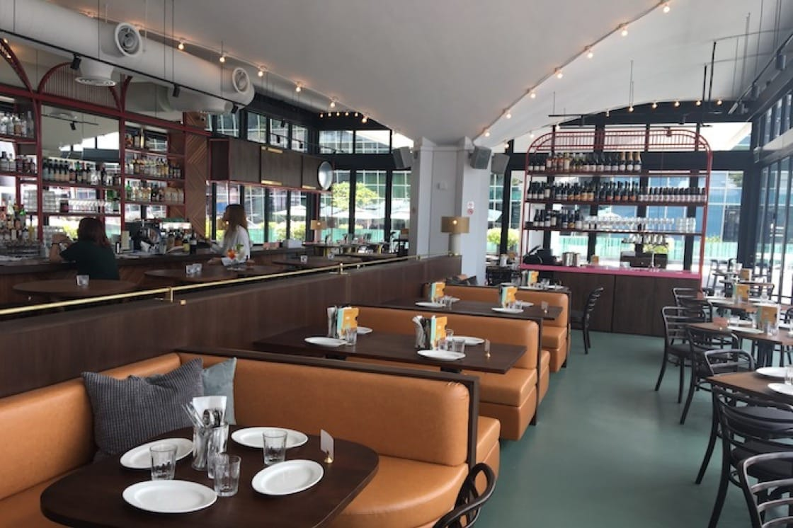 The cosy interiors at Caffe Fernet's glasshouse space. (Photo: Kenneth Goh)