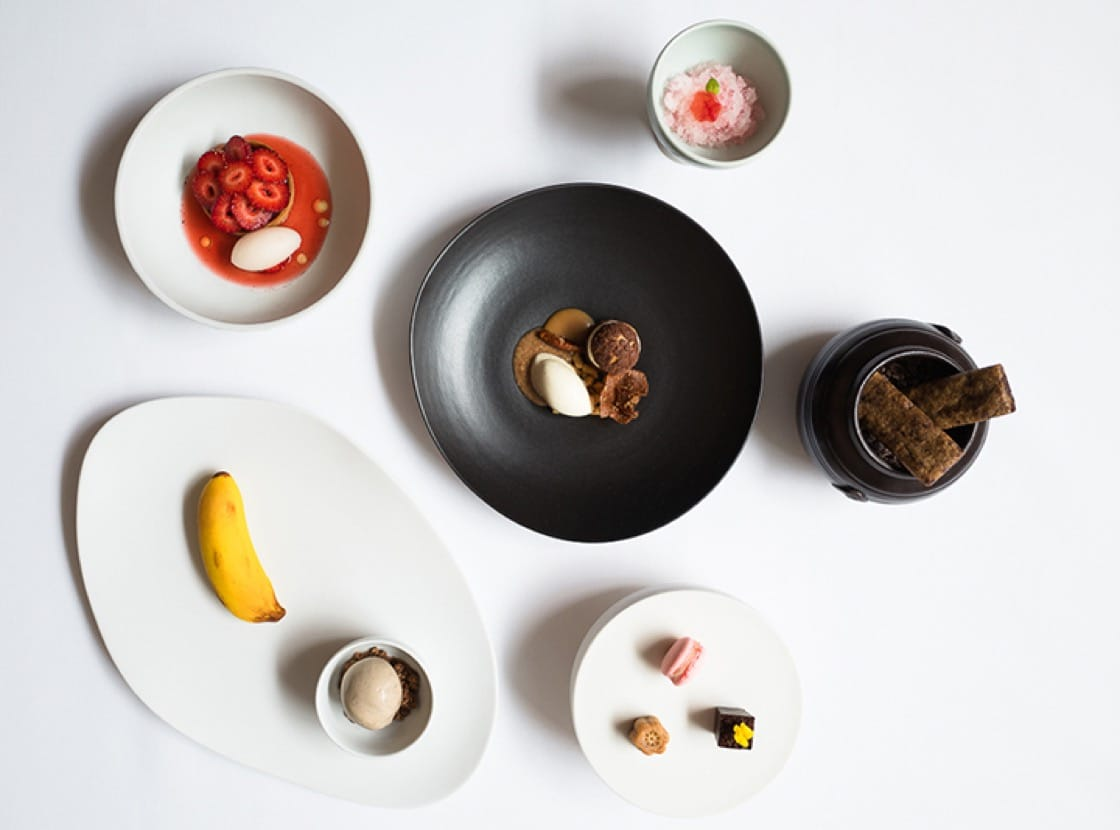 The dessert tasting menu at Jungsik in New York City.