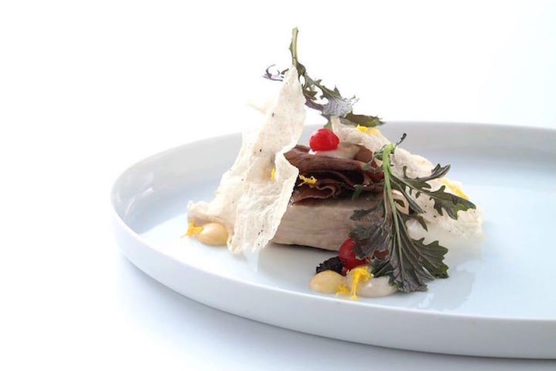 樂沐的菜式:八戒--豬心薏仁四破魚煙燻豬骨汁