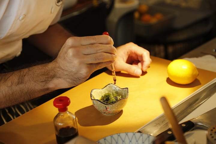 Okinawa is known for its mineral-rich seaweed like the Mozoku seaweed served at O-ku Japanese Tapas Bar.
