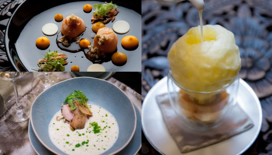 曼谷 Siam Kempinski 酒店 Sra Bua by Kiin Kiin 的創意泰國料理。