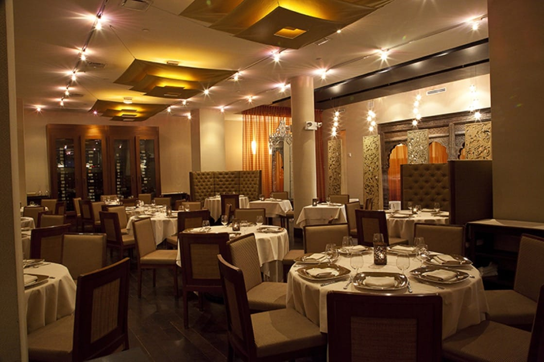 The dining room at Junoon.