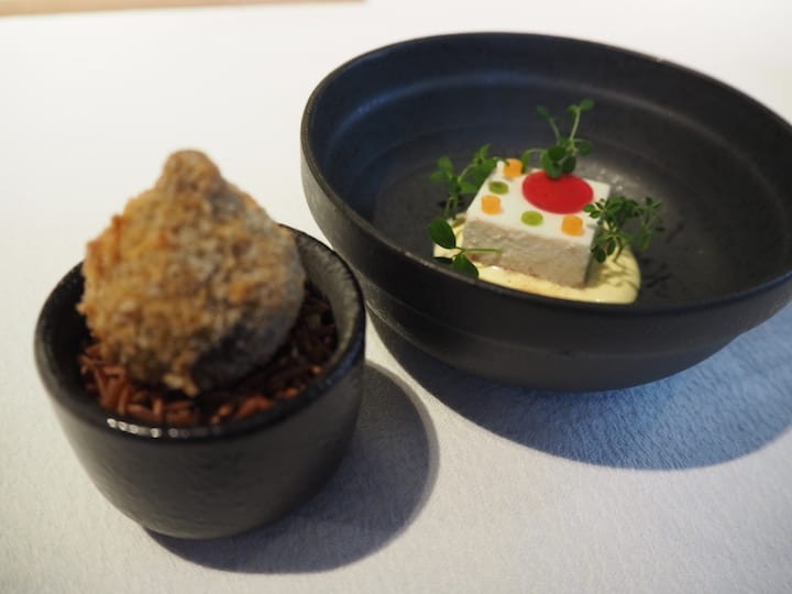 Adipoli!, which is inspired from avial, a Kerala coconut-based vegetable curry has been transformed in a chic custard cube. (Photo: Kenneth Goh)