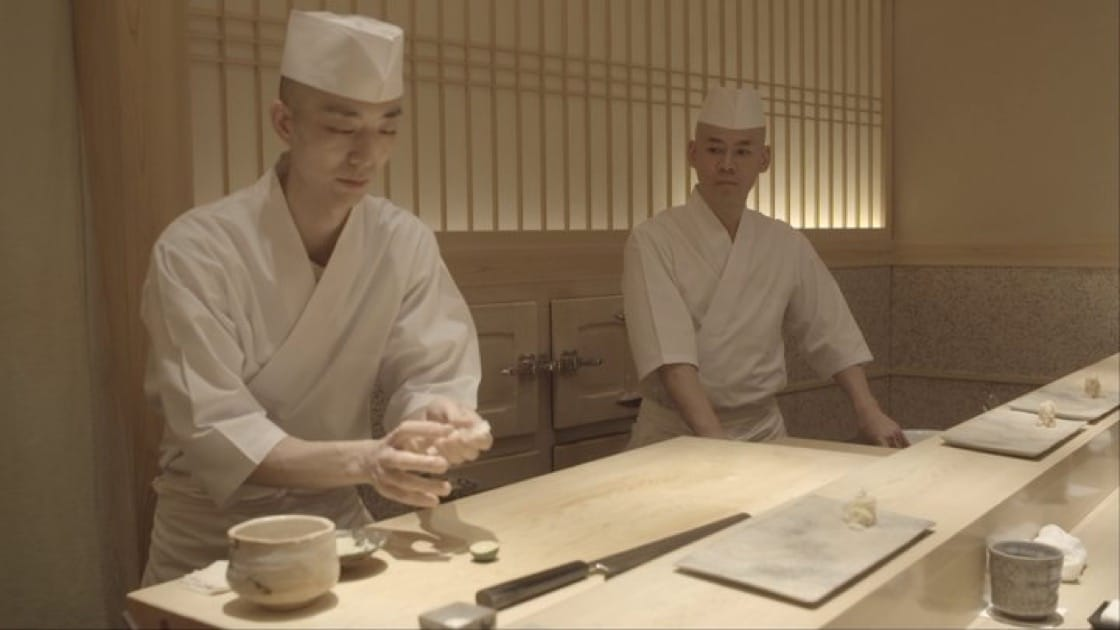 At Sushi Saito in Tokyo, Kobayashi is Saito's trusted right-hand man.