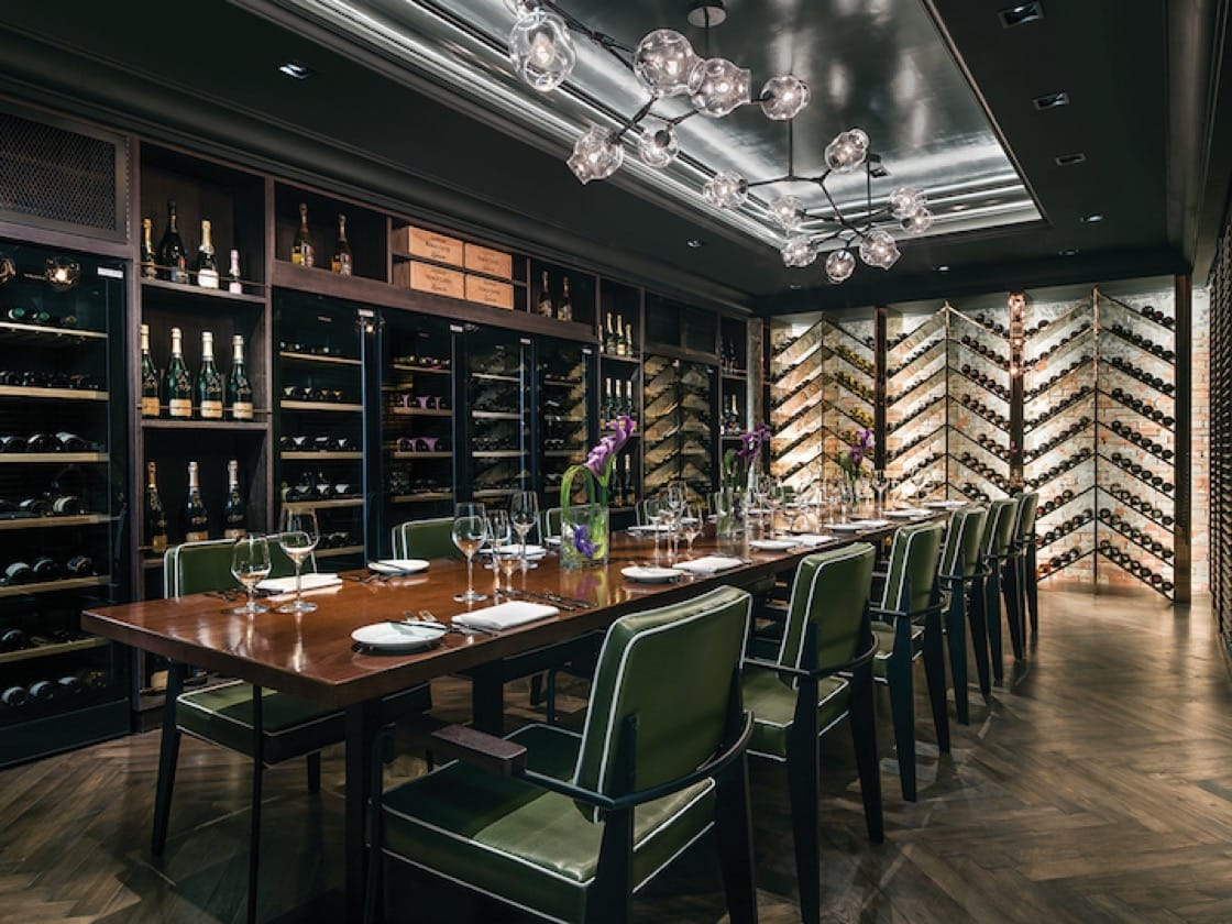 The private dining room at Bostonian.