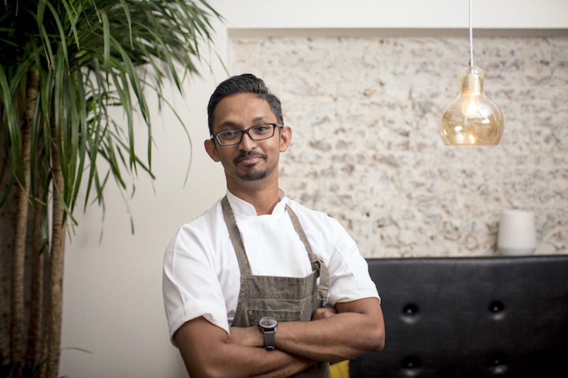 Chef Rishi Naleendra of one-Michelin-starred Cheek By Jowl restaurant in Singapore will showcase fish with leek and bonito butter at The Kitchen Stage.