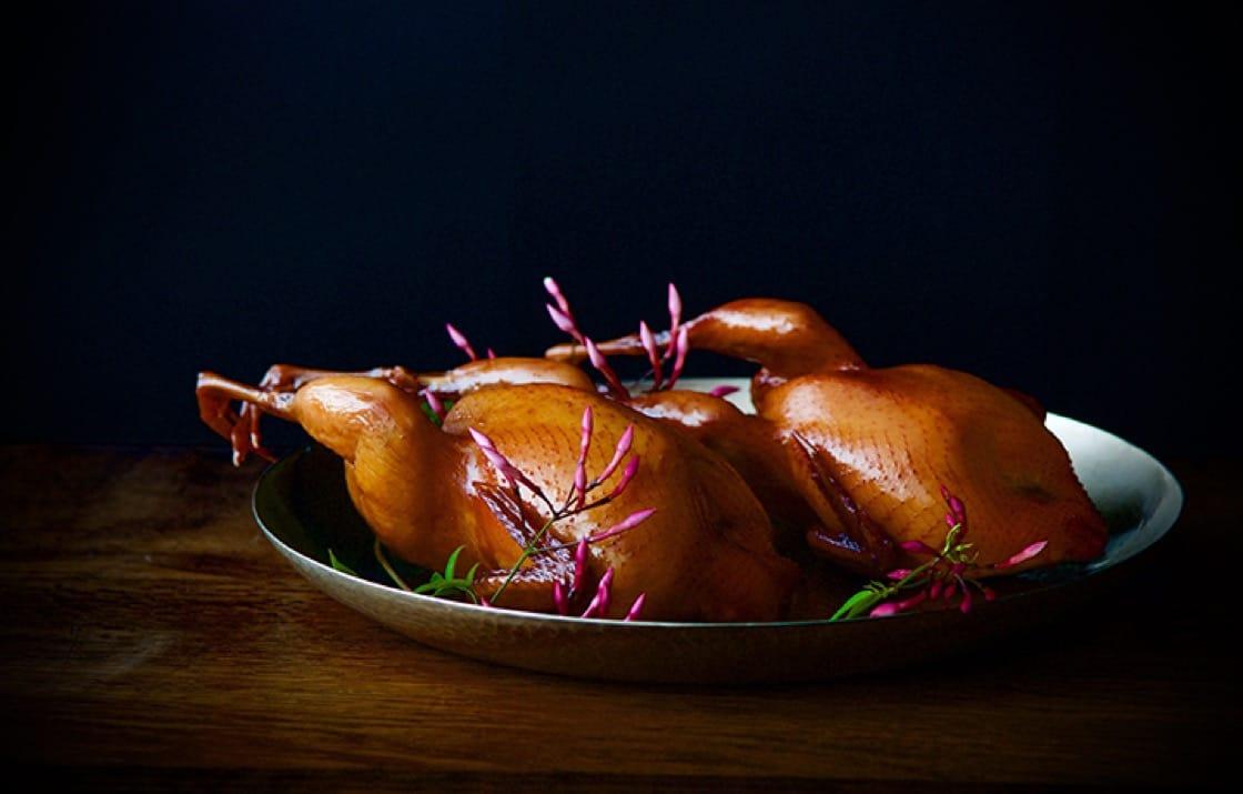 Barbecued quail. (Photo courtesy of Benu.)