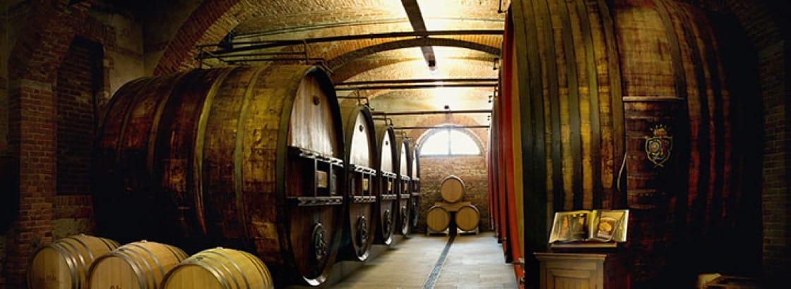 The cellar at Marchesi di Barolo.