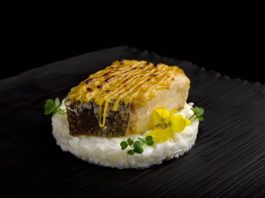 Miso Shoyu Baked Cod Fish, Scrambled Egg White.