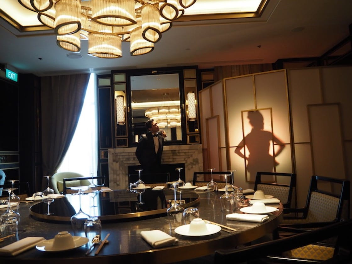 The opulent VIP Room, one of the private dining rooms at Madame Fan.