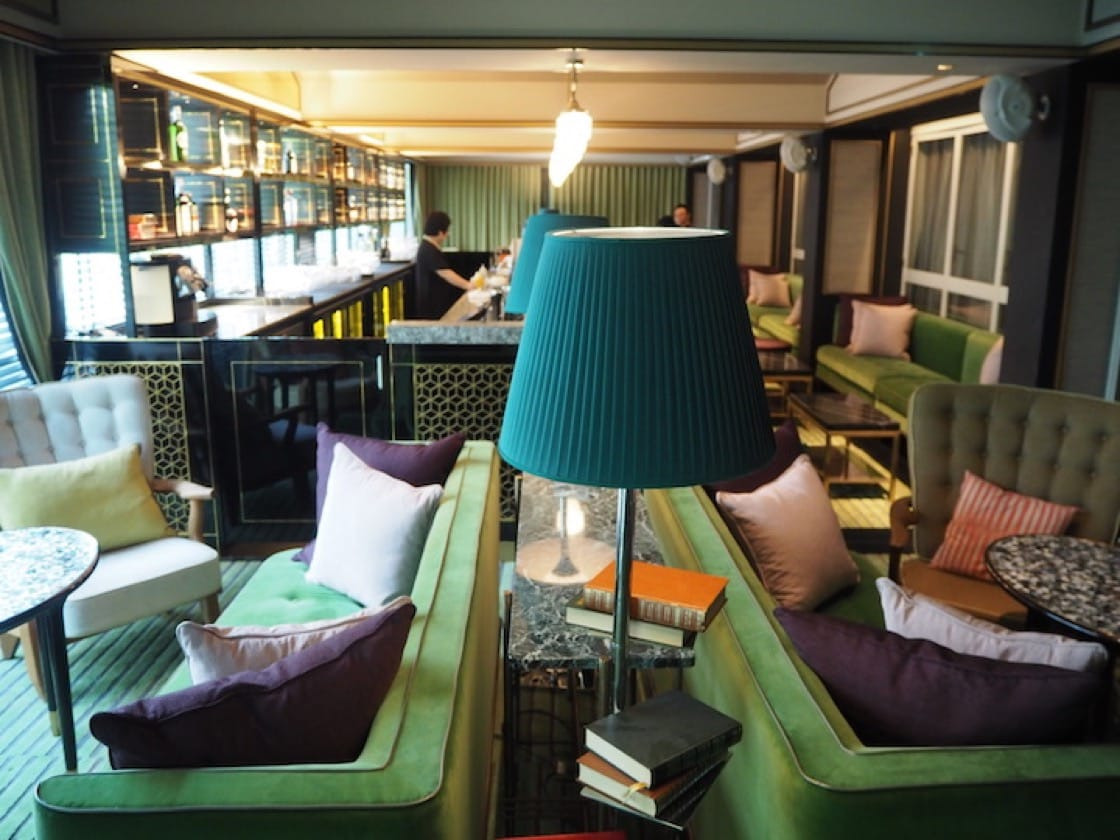 The Library lounge area at Madame Fan.