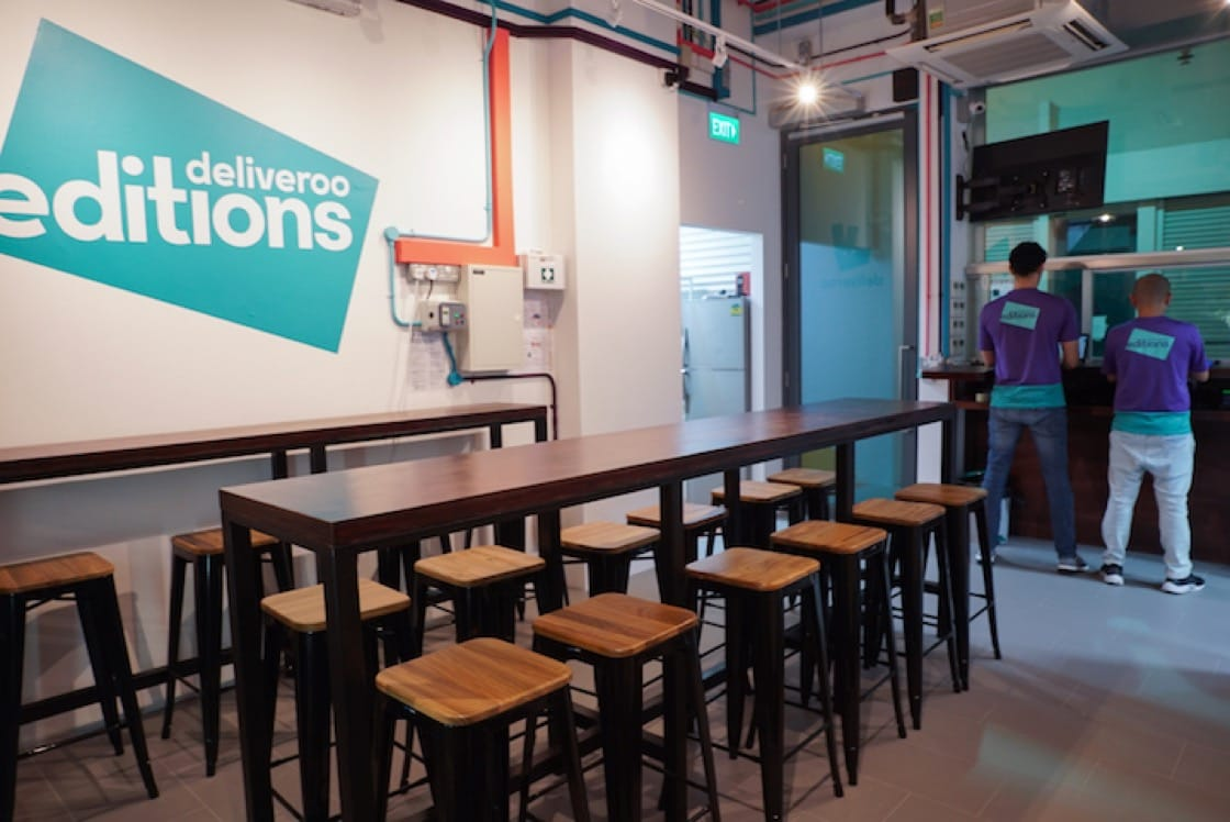 The 20-seat dining space in Deliveroo Edition's CT Hub outlet is the food delivery giant's first dine-in space.