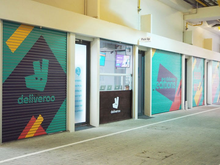 Customers can pick up their takeaway orders for free at the counter at Deliveroo Edition's CT Hub outlet.