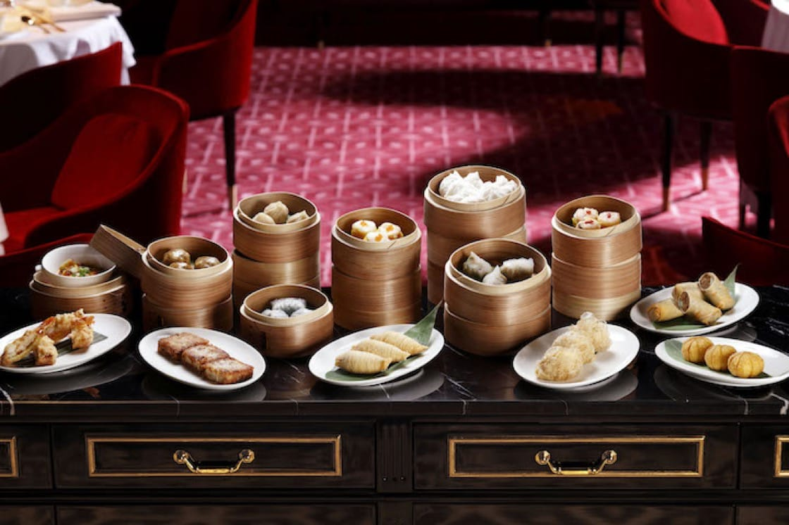 An assortment of Dim Sum at Madame Fan