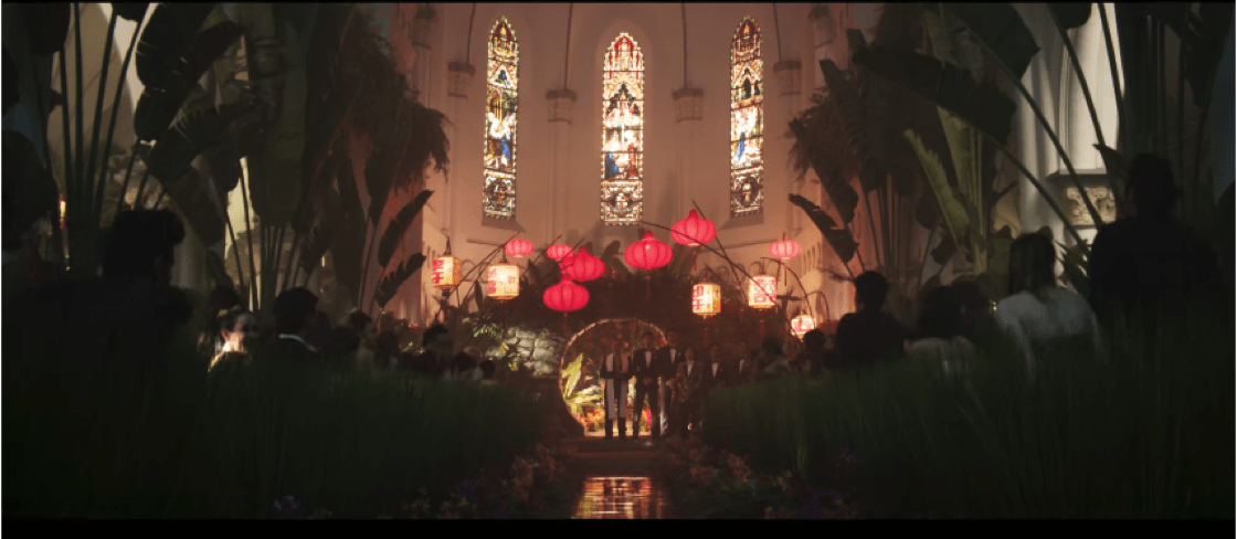 CHIJMES - as you have never seen it before (Photo: Crazy Rich Asians YouTube)