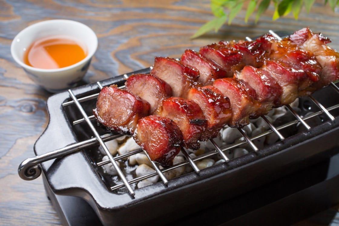Barbecued honey-glazed Kagoshima black pork