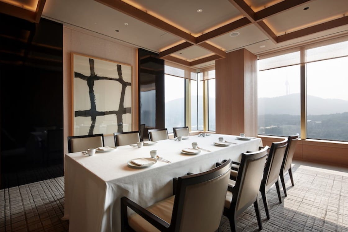 位於首爾 The Shilla 酒店的米芝蓮三星餐廳 La Yeon。