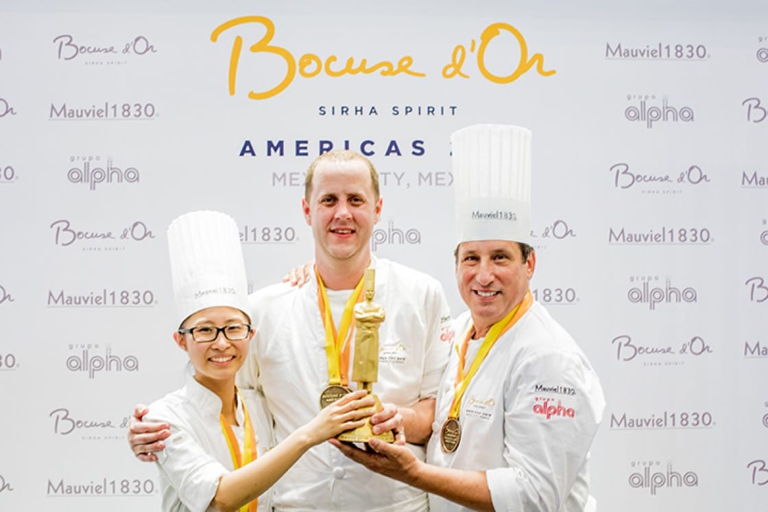 Kirkley and commis Mimi Chen took the gold at the recent Bocuse d'Or Americas.