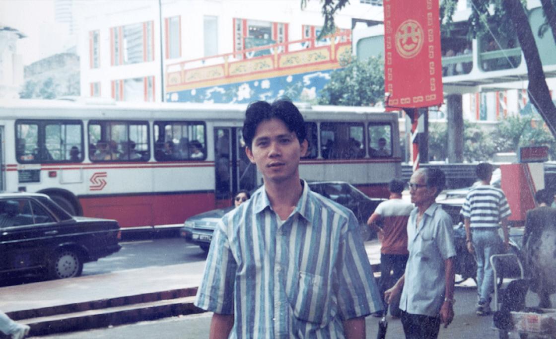 莫師傅年輕時就離開家裡,到新加坡發展。