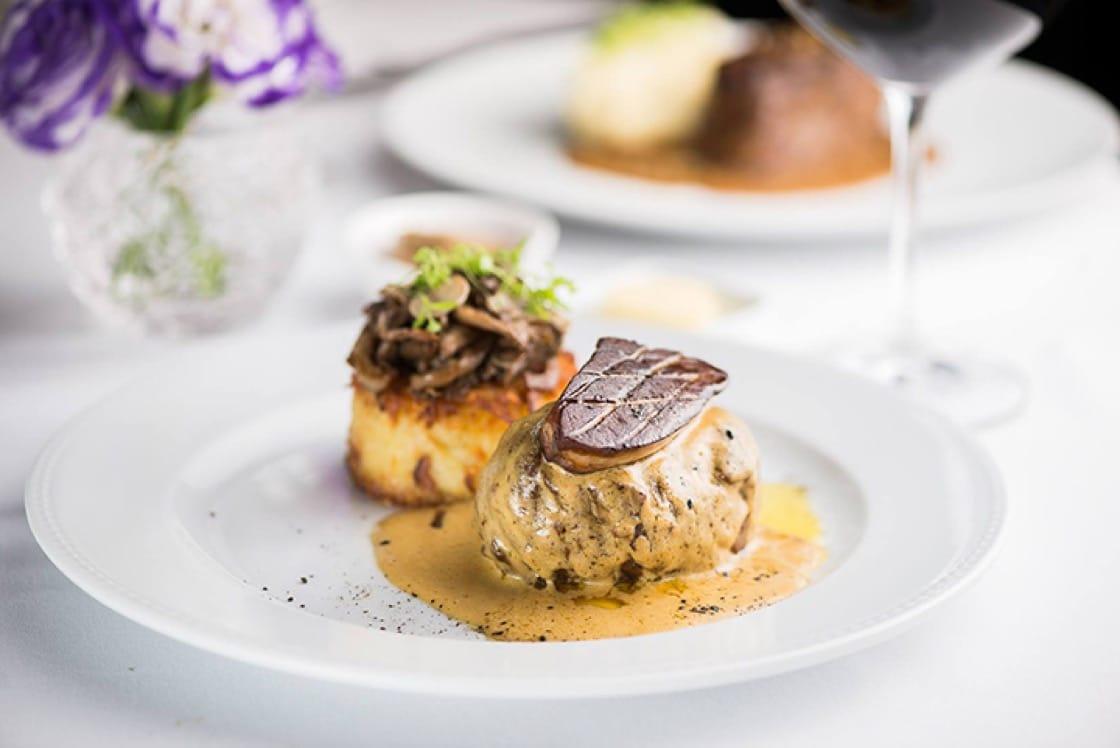 Filet de beuf rossinil, batata rosti, champignons sauté and sauce foie gras. (Photo: Chef Rouge Facebook page.)