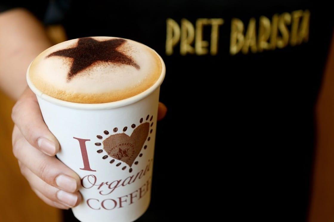 咖啡也有純素版,真是茹素者福音。(圖片提供:Pret A Manger)