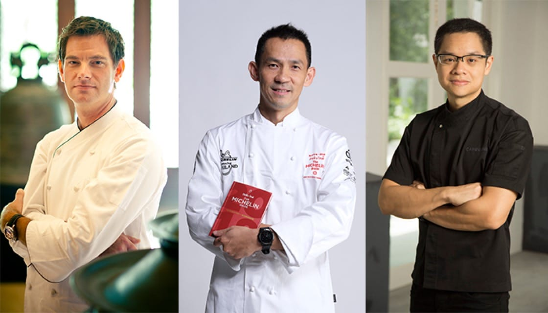 From left to right: Chef Henrik, chef Berm, chef Lee