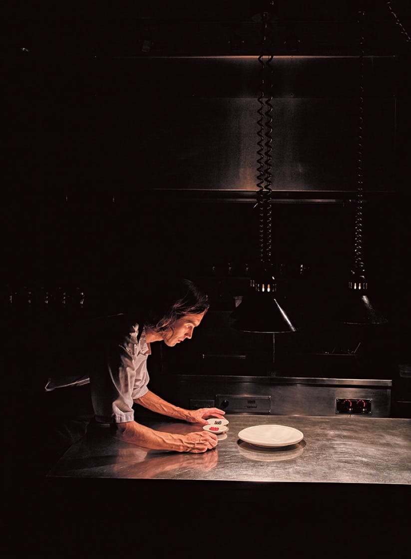Chef Fredrik Berselius in his kitchen at Aska. (Photo by Gentl and Hyers.)