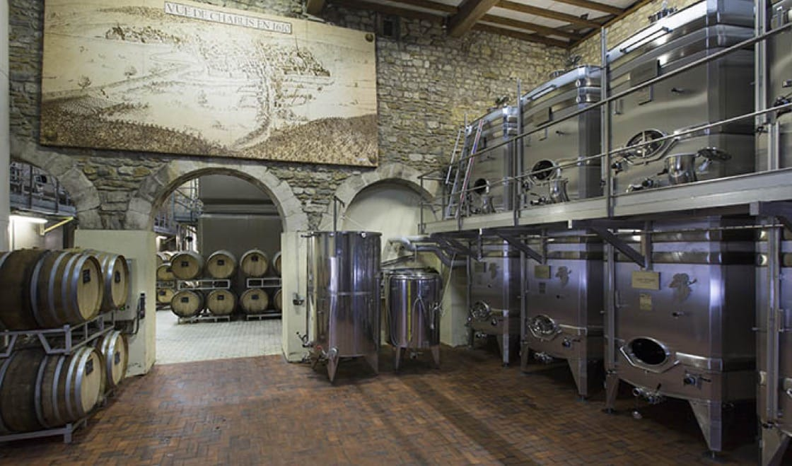 Inside Domaine Louis Moreau.