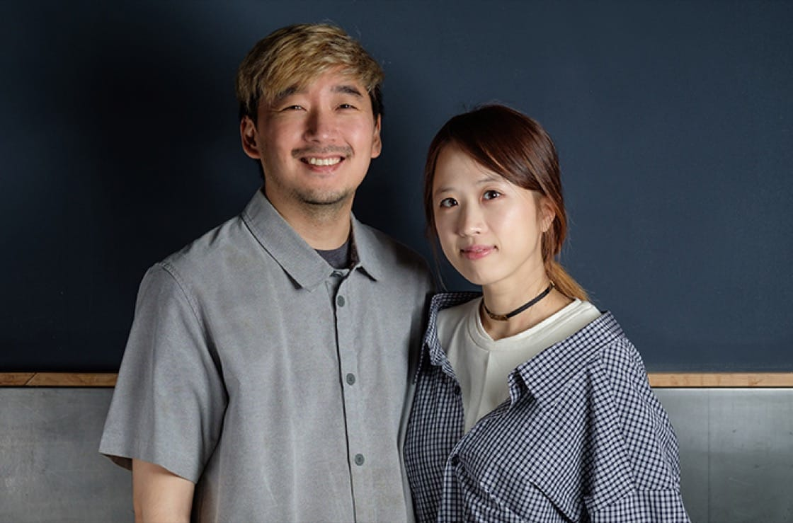 Chef Junghyun ('JP') and his wife, Ellia Park, run Atomix and Atoboy, both in New York City. (Photo by Diane Kang.)