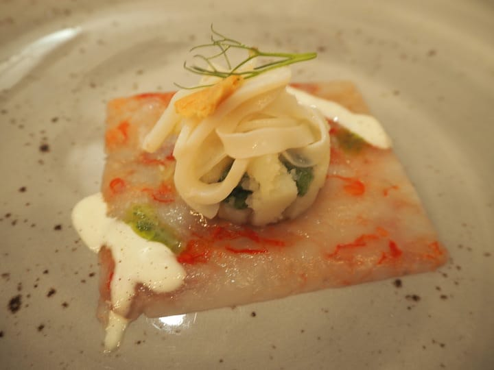 Mazzara red prawn carpaccio (Credit: Kenneth Goh)