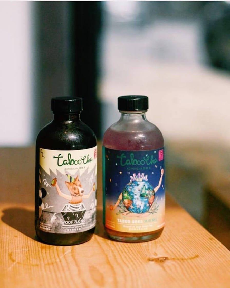 「大杯茶」(Taboocha)的支裝紅茶菌,包裝精美,玻璃瓶亦適合回收。(圖片來源:Taboocha 大杯茶面書專頁)