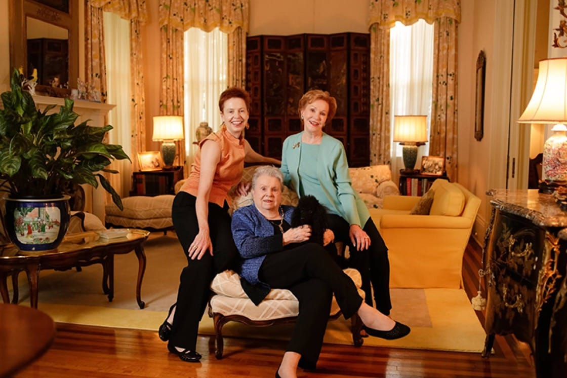 Pictured, from left: Ti Adelaide Martin, Ella Brennan and Dottie Brennan.