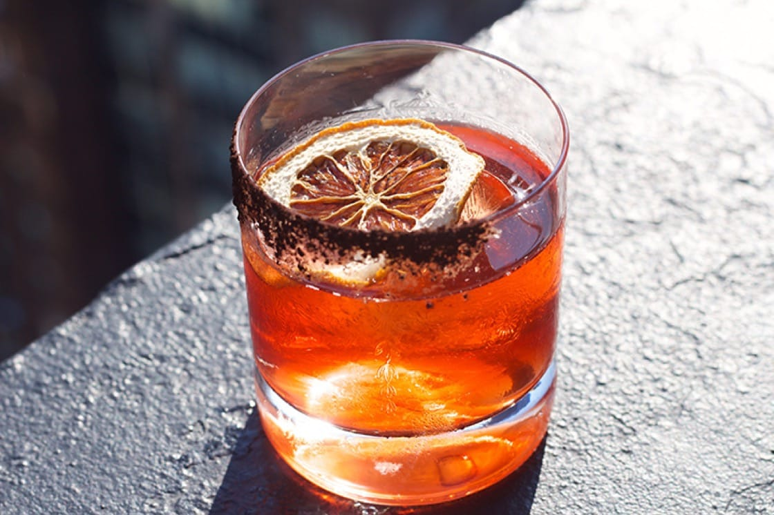 The Tonk Tonk Negroni from Ophelia in New York City.