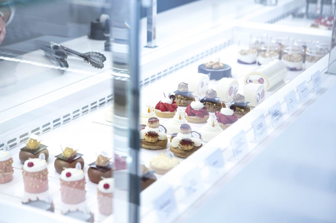 Pastries by Tadashi Nakamura can be found in the 'salon de thé' and the ground floor boutique.