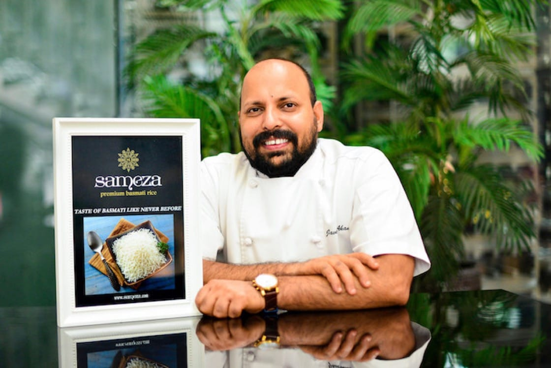Chef Javed Ahamad of Punjab Grill at Marina Bay Sands is the brand ambassador for Sameza Vintage Collection.