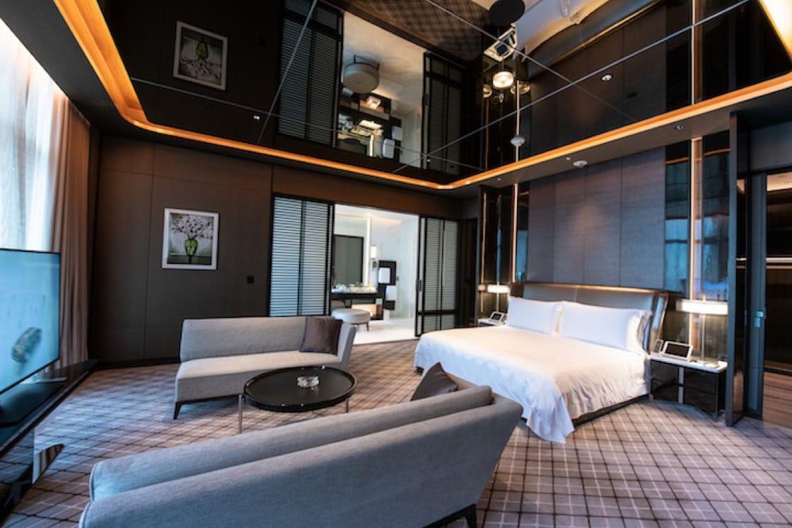 位於酒店 41 和 42 樓的複式別墅。(圖片來源:新濠天地摩珀斯酒店)