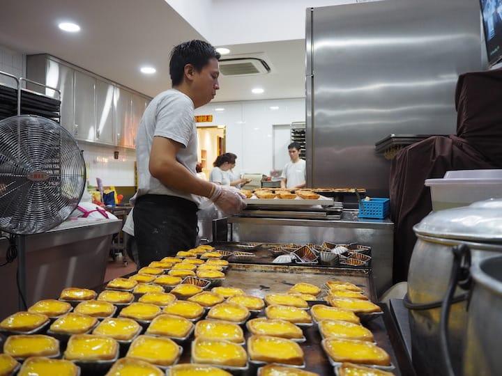 The egg tarts at Tong Heng are mostly made manually. (Credit: Kenneth Goh)