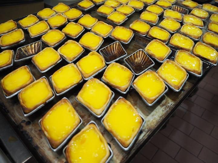 Lard is the secret ingredient that makes these egg tarts so fragrant. (Credit: Kenneth Goh)