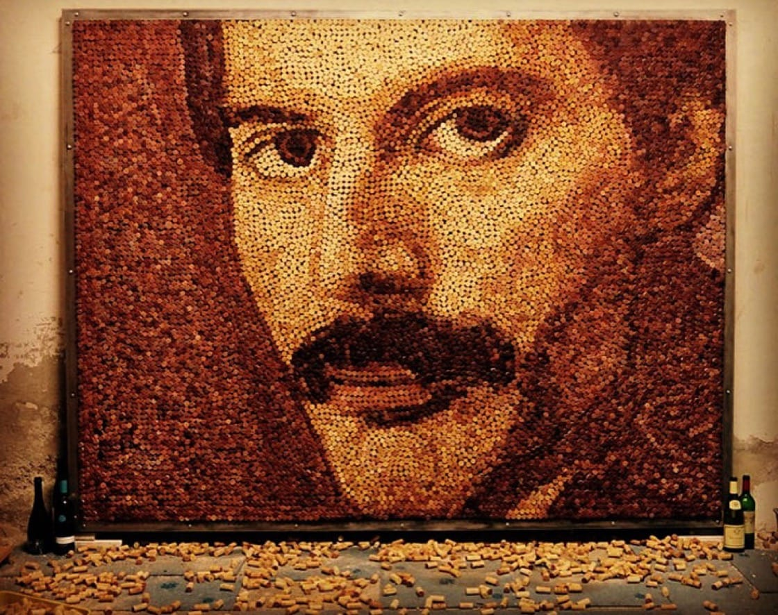 """""""I'm a huge fan of Queen, so my heart is beating for the Freddie Mercury portrait."""""""