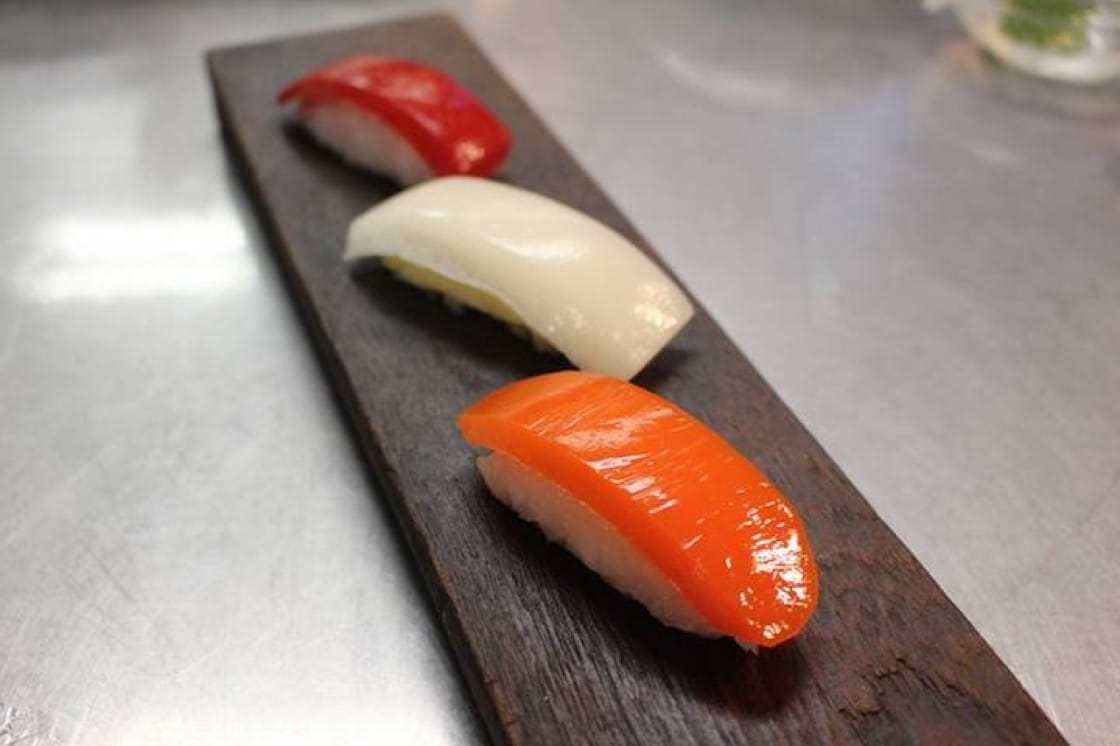 Sushi made from note-by-note cooking.