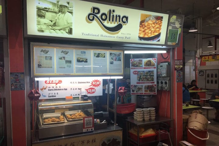 Rolina Singapore Traditional Hainanese Curry Puff at Tanjong Pagar Plaza Market & Food Centre.