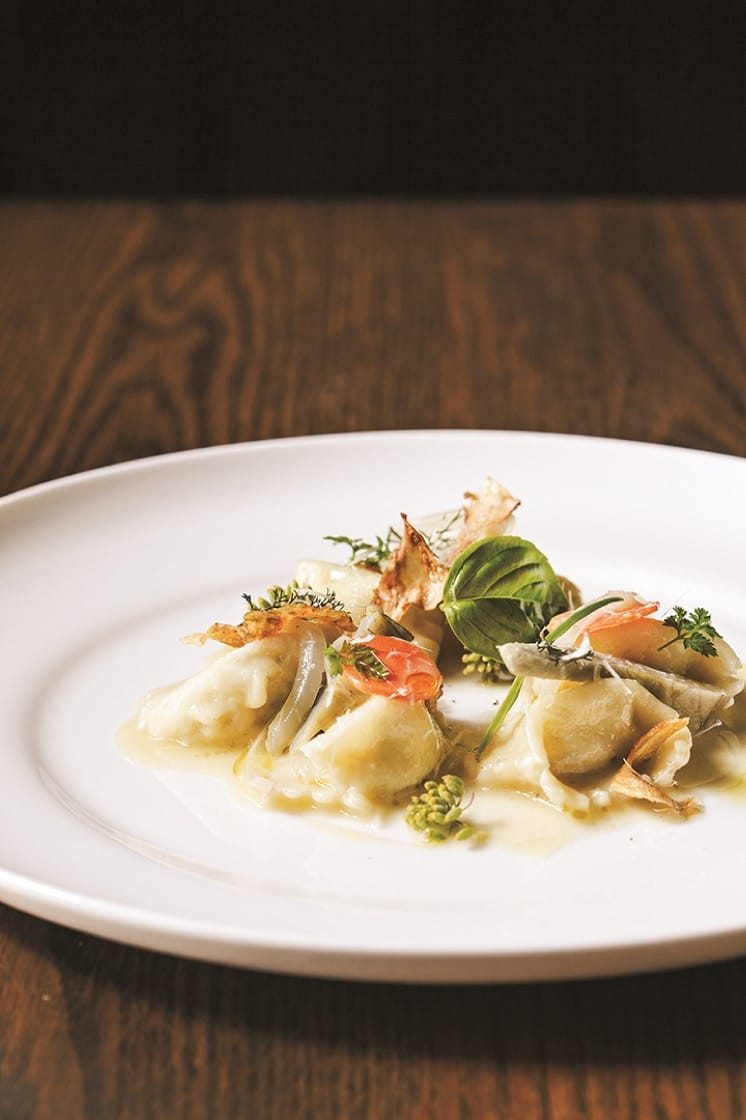 Artichoke agnolotti. (Photo by Ed Anderson.)