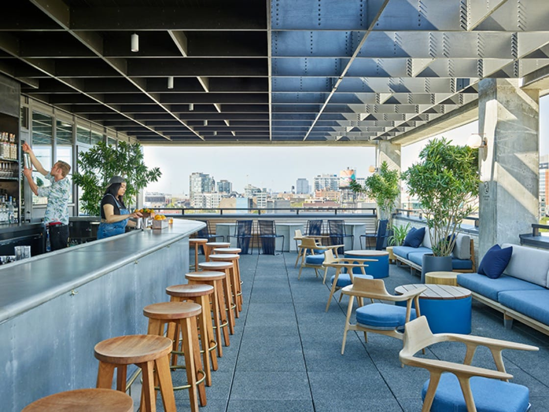 Head to the rooftop of the Ace Hotel for some live music at Waydown. (Photo by Spencer Lowell.)