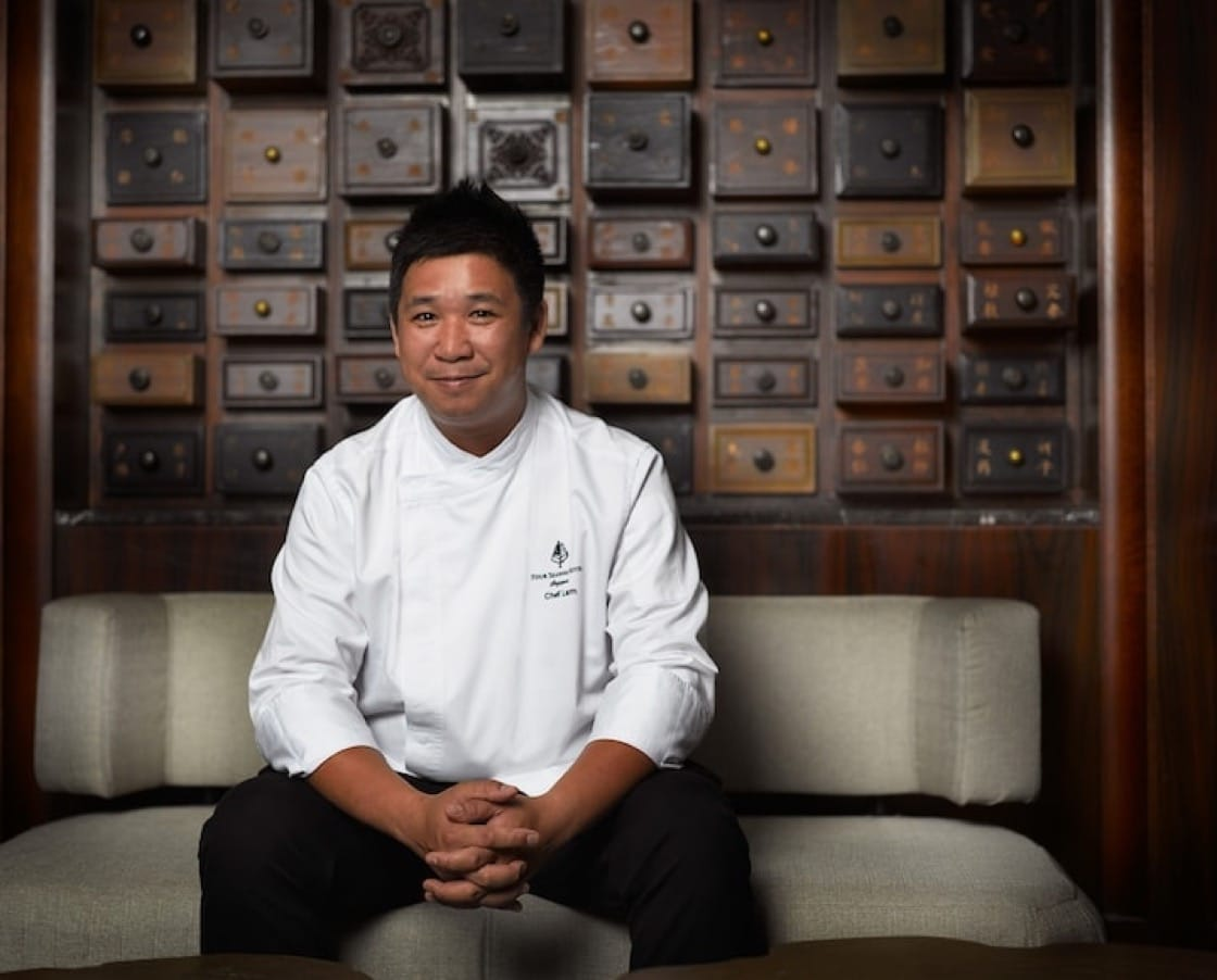 chef Tim Lam of Jiang-Nan Chun (Credit: Four Seasons Hotel Singapore)
