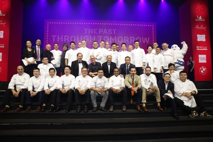 The chefs who are part of The MICHELIN Guide Singapore 2018 Selection.
