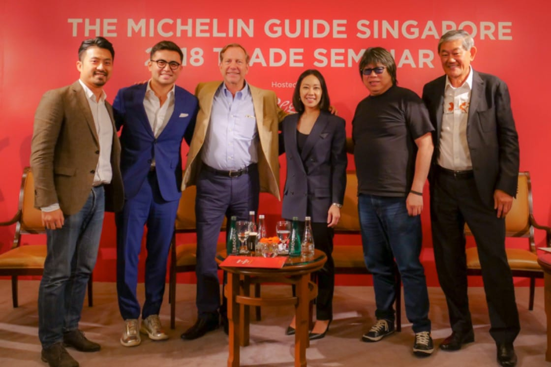 The panelists at the 2018 MICHELIN Guide Singapore Trade Seminar.