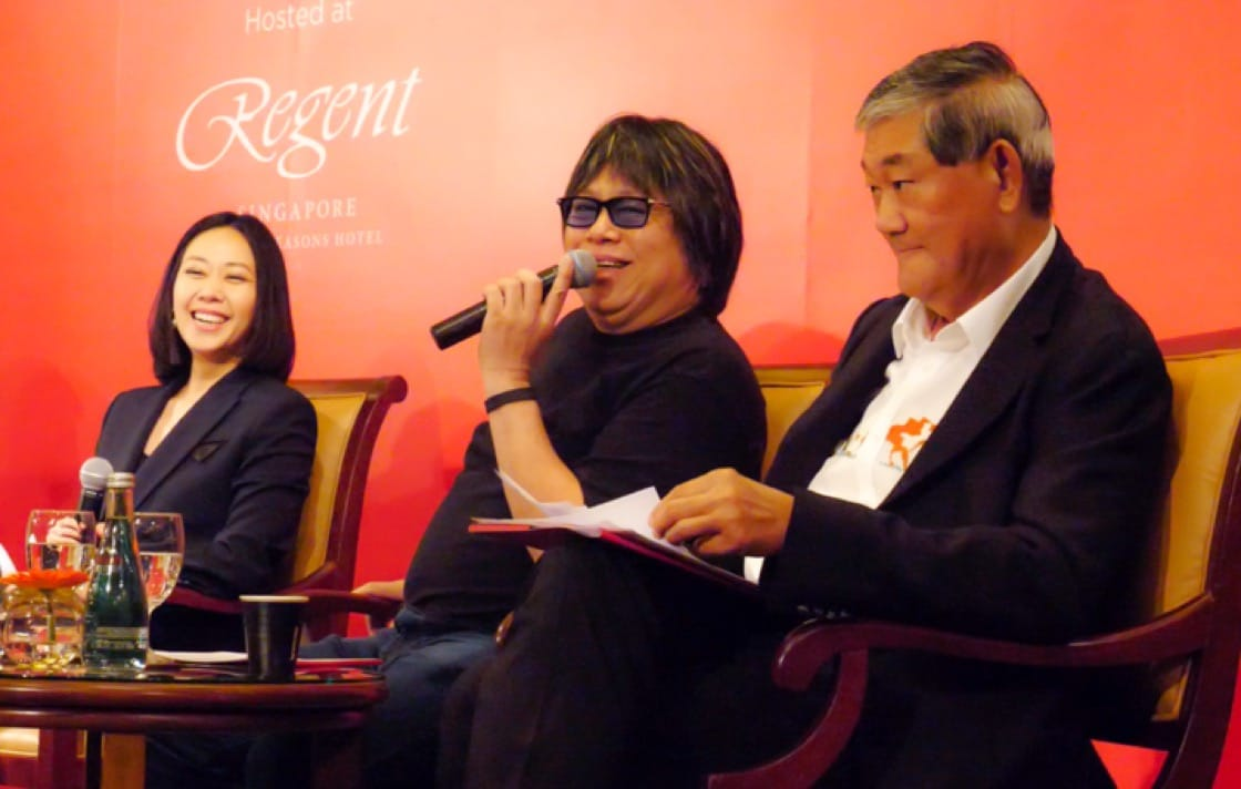 From left: Moderator Kissa Castaneda with panelists Alvin Leung of Bo Innovation and Yeo See Kiat of Chaine des Rotisseurs.