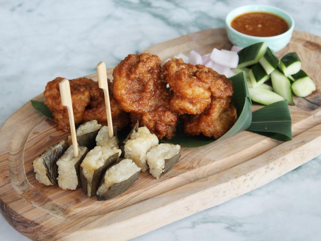 Crispy Prawns in Peanut Satay Sauce (Credit: Majestic Bay Restaurant)