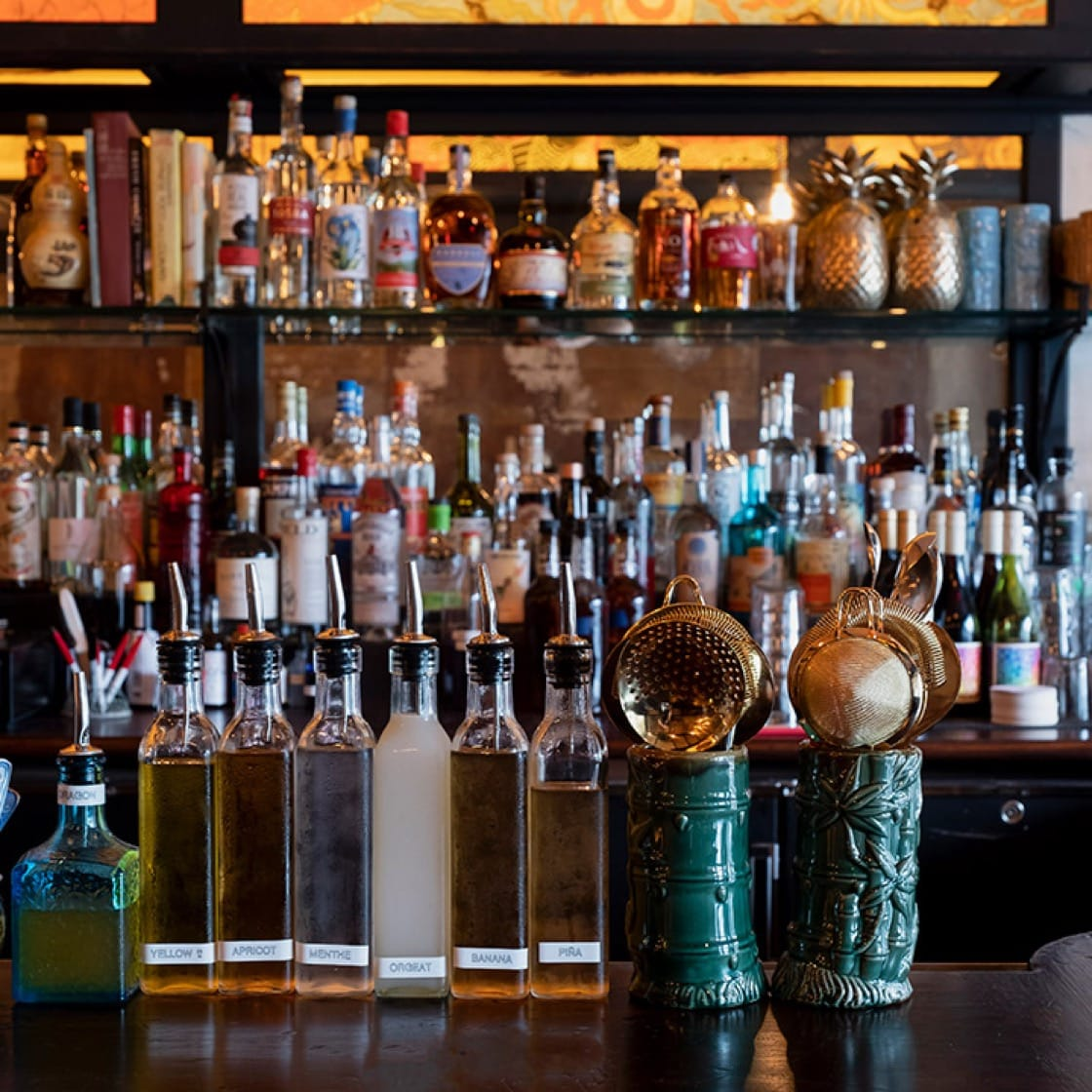 The bar at Kings County Imperial LES. (Photo by Alison Engstrom.)