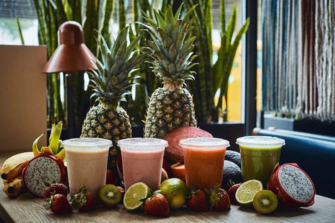 Llamita has a whole section of its menu dedicated to smoothies. (Photo by Paul Barbera.)